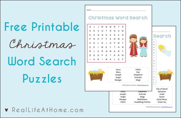 Christmas Word Search for Kids {Free Printables}