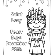 Saint Lucy Coloring Page (Also available in a Saint Lucia version)