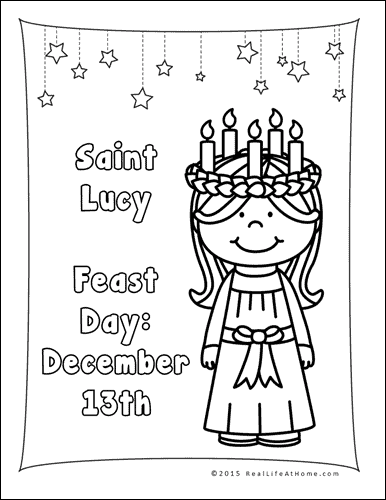 saint lucy coloring page also available in a saint lucia version