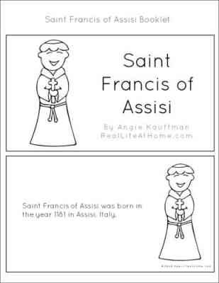 Saint Francis of Assisi Catholic coloring page. Feast day is ... | 400x309