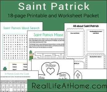 Saint Patrick Printables Packet