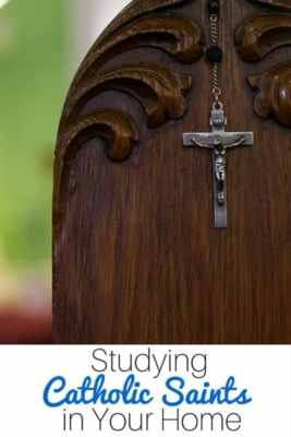 Studying Catholic Saints in Your Home