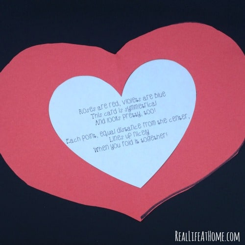Valentine Symmetry craft and poem