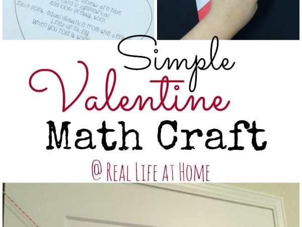 Simple Valentine Math Symmetry Craft