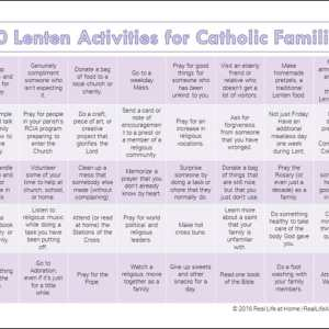 40 Lenten Activities for Catholic Families and Kids {Free Printable Available in Both Color and Black and White!}