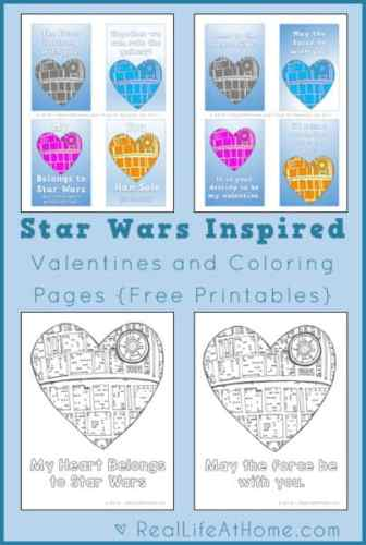 Free Star Wars Inspired Valentines and Coloring Pages Printables