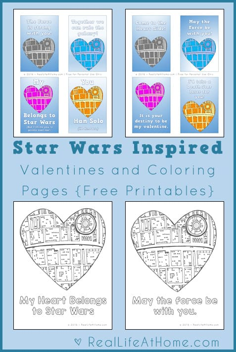 picture about Printable Star Wars Valentine titled Free of charge Star Wars Valentines, Lunch Box Notes, and Coloring
