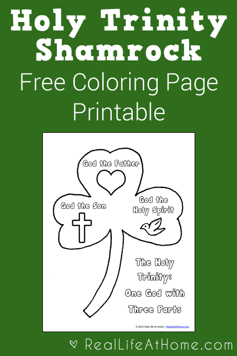 holy trinity shamrock coloring page printable - Printable Shamrock Coloring Pages
