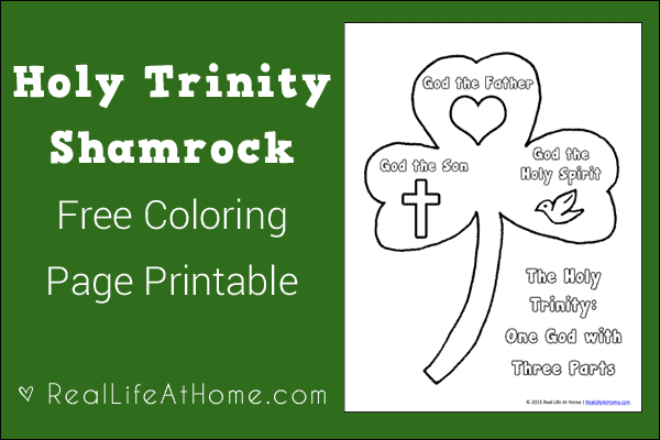 photograph regarding Printable Shamrock Images identified as Holy Trinity Shamrock Coloring Site Printable
