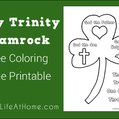 This Holy Trinity Shamrock free coloring page is a perfect way to talk to kids about the the Holy Trinity of One God with Three Parts