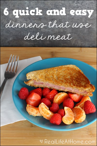 Quick and Easy Dinner Options with Deli Meats