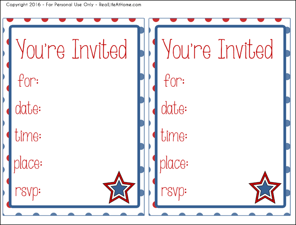 picture about Free Printable Patriotic Invitations titled Absolutely free 4th of July Get together Printables Furthermore Guidelines in the direction of Produce