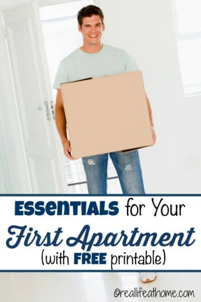 Essentials for First Apartment {Including a Free Printable Essentials for Your First Apartment Checklist}