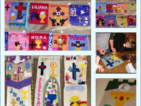 First Communion Banner Resources for Catholic Kids