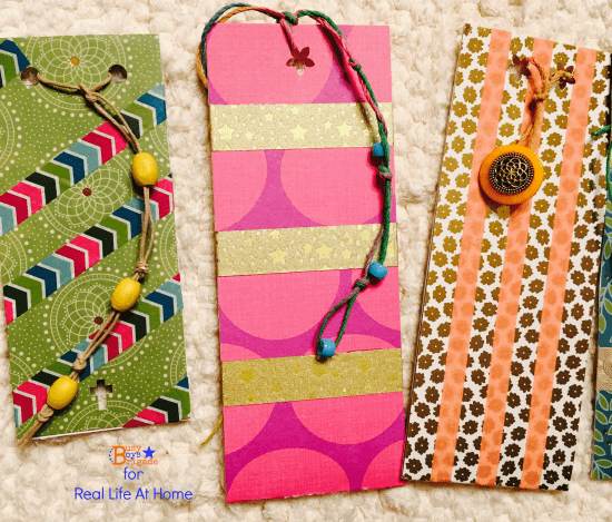 Washi tape diy bookmarks for kids tutorial for Diy bookmarks for guys