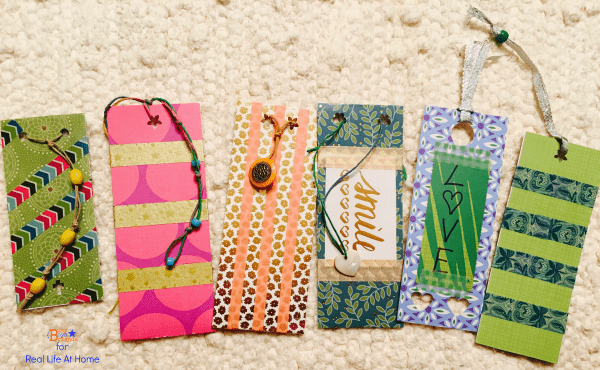 Washi Tape DIY Bookmarks for Kids