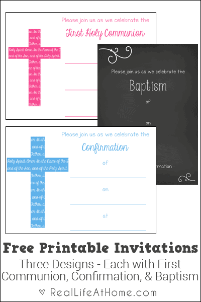 photo about Printable First Communion Invitation called To start with Communion, Baptism, and Affirmation Invites No cost