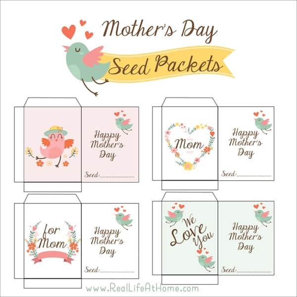 photo regarding Printable Seed Packets identify Absolutely free Printable Moms Working day Seed Packets