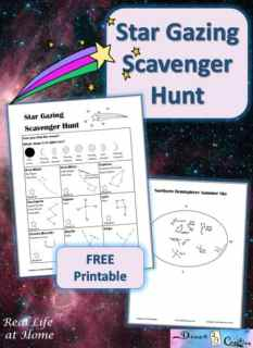 star gazing scavenger hunt printable