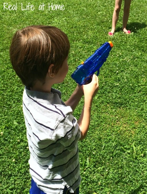 Water guns easy math game