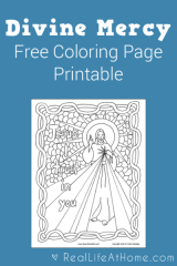 Divine Mercy Coloring Page