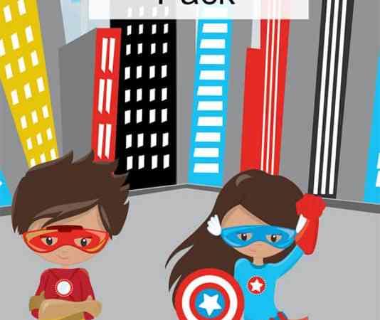 Superhero Printables Packet for Preschoolers