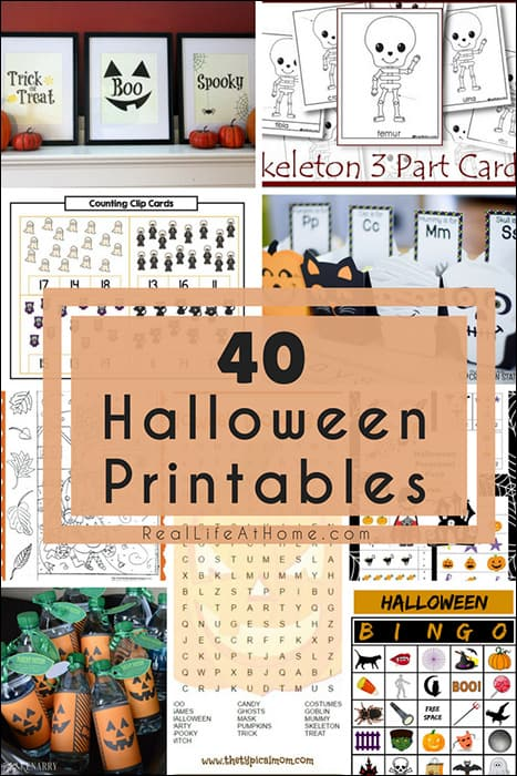 image about Halloween Charades Printable identified as 40 (Largely Cost-free) Halloween Printables for Small children and People