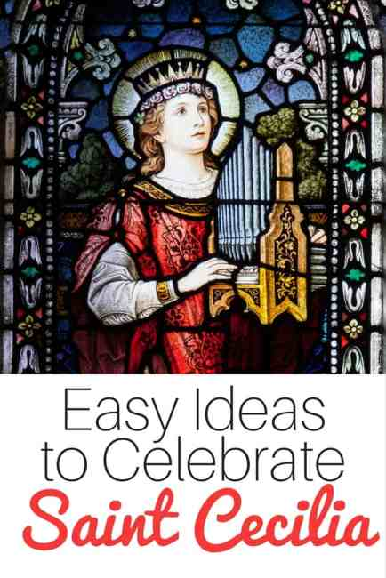 Easy ideas to celebrate Saint Cecilia - perfect for Catholic families! | Real Life at Home