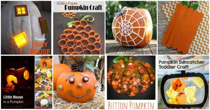 With autumn just arriving, now is the perfect time to gather your art supplies and make some pumpkin crafts with your favorite kiddos! | reallifeathome.com