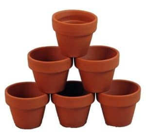 "Set of 10 - 2.5"" x 2.25"" Clay Pots - Great for Plants and Crafts"