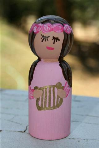 St Cecilia Peg Doll
