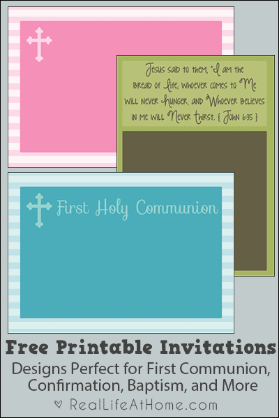 free printable religious invitations perfect for confirmation first communion baptism and more