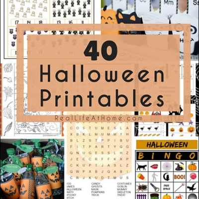 Getting ready for Halloween fun? Here are 40 Halloween printables including everything from learning activities to decorations to games and more! | Real Life at Home