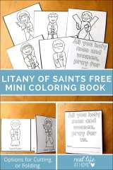 All Saints' Day Coloring Page Mini Book Printable