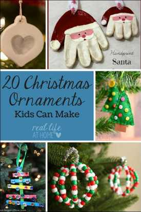 Want some fun Christmas ornament crafts? Visit for Christmas ornament crafts that kids can make. There is something for every skill level. | Real Life at Home