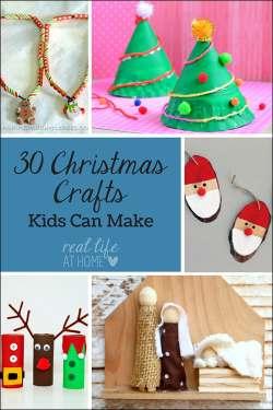 30 Christmas Crafts Kids Can Make