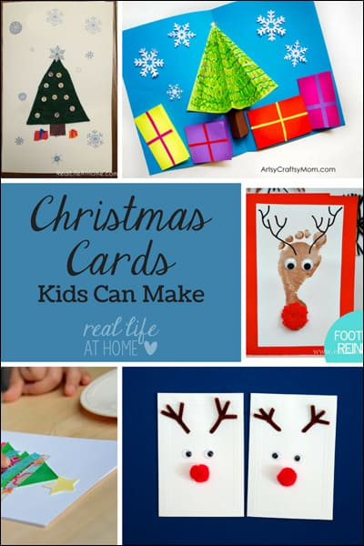 Want some fun Christmas card crafts? Visit for Christmas card crafts that kids can make. | Real Life at Home