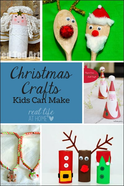 Want some fun Christmas crafts? Visit for Christmas crafts kids can make. | Real Life at Home