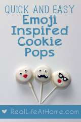 Quick and Easy Bake Sale Favorite: Emoji-Inspired Cookie Pops