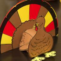 3D Turkey Cutout Downloadable Art Project