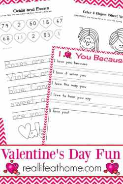 Free Valentine Printables (no email address or opt in required)! Eight Page Valentine's Day Fun Printables Packet for Kids