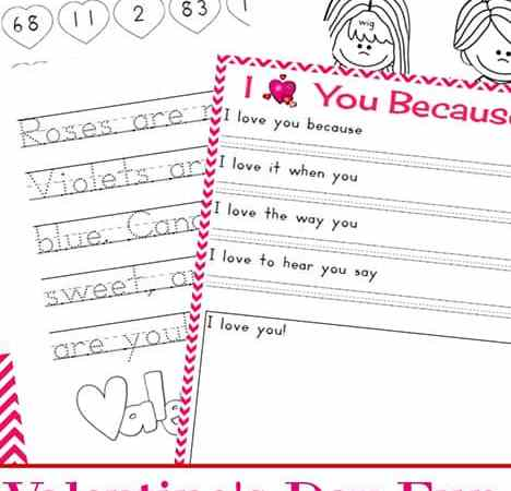 Valentine Printables: Valentine's Day Fun and Learning Packet