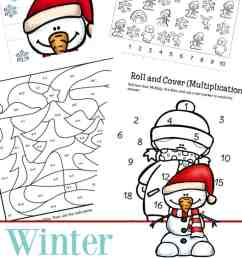Fun Printable Packet of Winter Math Worksheets for 1st - 3rd Grade [ 1100 x 735 Pixel ]