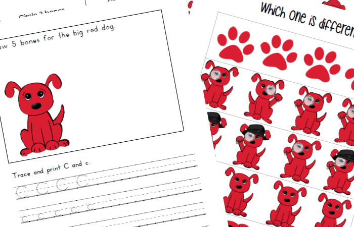 Clifford the Big Red Dog: Printables Inspired by the Books