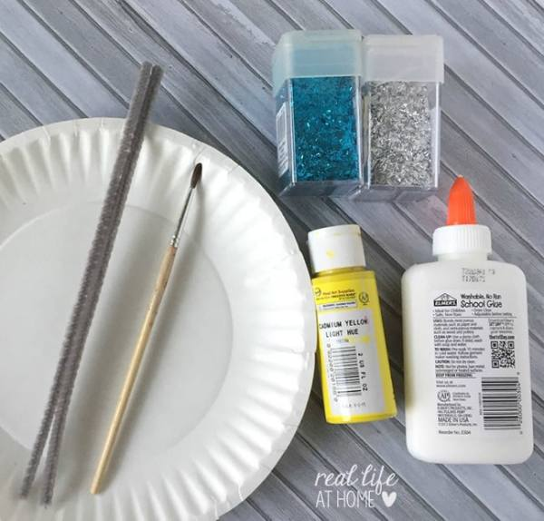 Materials Needed for Paper Plate Butterfly Craft Project