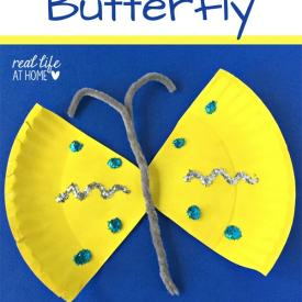 Easy Paper Plate Butterfly Craft {Plus Free Butterfly Printables Packet}