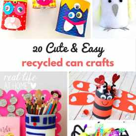 20 Cute and Easy Recycled Can Crafts for Kids