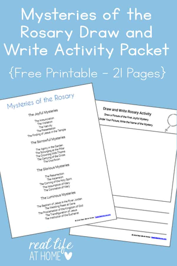 photo about Mysteries of the Rosary Printable named Mysteries of the Rosary Attract and Produce Printables Packet