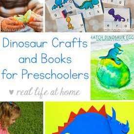 Dinosaur Crafts and Books for Preschoolers