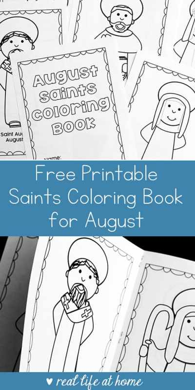 Looking for a saint activity for August? This free printable saints coloring book for August is a perfect Catholic coloring book for kids learning about saints with feast days in August.   Real Life at Home